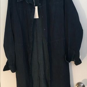 A New Day Jean Shirt Dress 100% Cotton Large